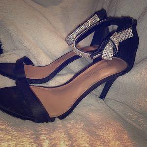 Christian Siriano balance ankle strap high heels